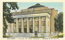 "DENVER CO KPOF ""ALMA TEMPLE"" RELIGIOUS RADIO STATION SHERMAN STREET 1944 P/C"