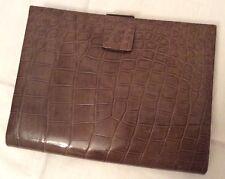 Original Art Deco crocodile & chrome clutch bag