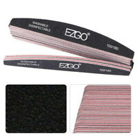 25pcs Nail Files 100/180 Grit Double Sided Sanding Buffer Polisher Manicure Tool