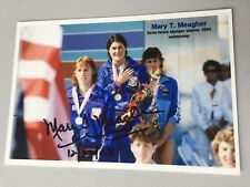Mary T. Meagher 3 x Olympic Champion 1984 Swimming Signed Photo 10x15 RARE