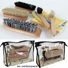 7-tlg. Shoe Shine Set Brushes Care Polishing Cloth with Case