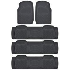 WeatherPlus 4 Row Mats for SUV Van - Heavy Duty 100% Rubber in Black