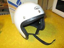 Harley Knucklehead NOS Buco Vintage White Motorcycle Helmet