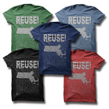 REUSE! Because You Can't Recycle The Planet Massachusetts T-shirt Men Small Grey