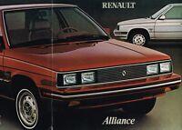 1983 RENAULT / AMC ALLIANCE Brochure / Catalog with Spec's: L, DL, LIMITED