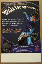 Megadeth Marty Friedman Rare Promo Poster of 2003 Cd 11x17 Usa Never Displayed