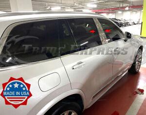 2015-2020 Volvo XC90 4Pc Chrome Pillar Post Stainless Steel Trim Door Cover