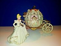 LENOX  Disney's CINDERELLA & Cinderella's Lighted ENCHANTED COACH  Both NIB  🏰