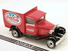 Matchbox Ford Model A Delivery Truck Coca Cola Soda Red w/Rubber Tires
