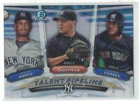 2018 Bowman Chrome Talent Pipeline Abreu Sheffie Gleyber Torres New York Yankees
