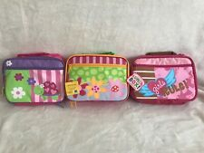 New 3 Stephen Joseph Lunch Boxes Turtle, Flower & Girls Rule Theme Adorable
