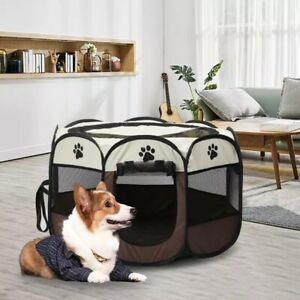 Large Foldable Soft Fabric Dog Crate Cat Cage Pet Travel Puppy Play Pen Tent mat