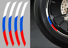 "4 X STICKERS DRAPEAU ROUE JANTE 17"" BMW S1000RR AUTOCOLLANT MOTO (RA073)"
