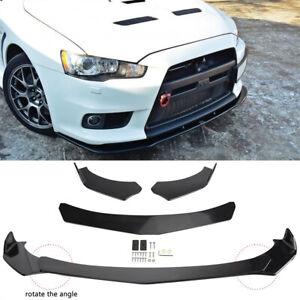 For Mitsubishi Lancer Front Bumper Lip Splitter Spoiler Sport Styling Body Kits