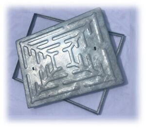 MANHOLE COVER & FRAME 600x450mm - Steel lid and Steel Frame  Access Cover