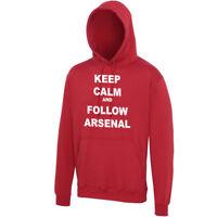 Arsenal Hoodie - Keep Calm and Follow Arsenal