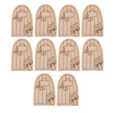 10 x Laser Cut Wooden Mini Tiny Plain Fairy Faerie Pixie Elf Doors Unpainted