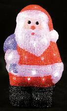 Indoor 31cm Led Acrylic Santa Xmas Decoration Christmas Display Light Up