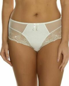 Elomi Maria Brief Cream Ivory Size 3XL  20 22 Mesh Lace Knickers Wedding 8505