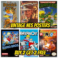 NES GAME POSTERS A3 Vintage Retro Game Bedroom Decor Shop Wall Kids Gift Gamer