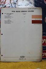 DUCO / DU PONT 1956 BUICK Paint Chip Color Sample Brochure Chart 27-A   (65)