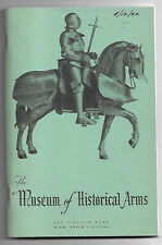 1952 Museum Of Historical Arms List of European Arms Makers Prior to 1850 2