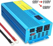 1200w 2400w pure sine wave power inverter Dc 12v to Ac 110v 120v Car Converter