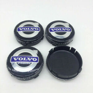 4x64mm For VOLVO Black Wheel Center Caps Logo Emblem Badge Hub Caps Rim Caps