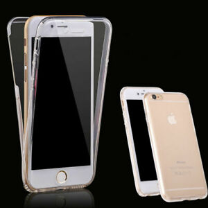 360° Front And Back Slim TPU Clear Gel Cover Case For iPhone SE - 2020