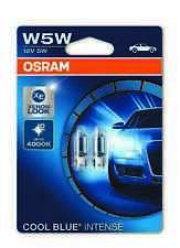OSRAM W5W 501 COOL BLUE INTENSE HALOGEN SIDELIGHT / NO. PLATE BULBS( DUO PK )