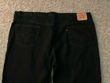 EUC Levi's 550 Relaxed Fit Tapered Jeans BLACK Mens 52x30 (MEASURED 51x30)(5948)