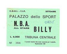 BIGLIETTO USATO PARTITA BASKET   NBA ALL STARS - BILLY MILANO  5 SETTEMBRE 1981