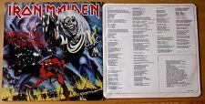 EX/EX 1982 ORIGINAL IRON MAIDEN NUMBER OF THE BEST VINYL LP + LYRIC SHEET