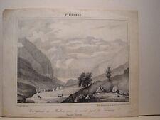 France «Hautes Pyrénées...» Dessin Paul Jean P. Gelibert. Lithographie Engelmann
