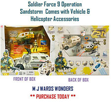 Soldier Force 9 Operation Sandstorm Vehicle Helicopter and Accessories