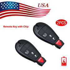2 For 2009 2010 2011 2012 Dodge Ram 1500 2500 3500 Remote Start Car Key Fob