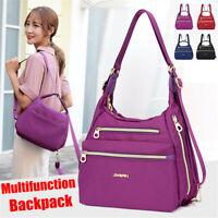 Fashion Women Nylon Backpack Shoulder Bag Travel Handbag Crossbody Tote Satchel