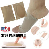 1/2/5Pair Gel Orthotic Insole Arch Support Foot+Cushion Sleeve Plantar Fasciitis