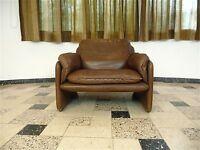 DE SEDE Leather Easy Chair LEDERSESSEL Sessel Leder DS-61 Fauteuil DeSede 1960s