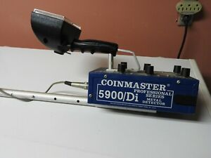 WHITE'S COINMASTER 5900/Di PROFESSIONAL SERIES METAL DETECTOR  Original Owner