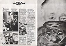 Coupures de Presse clipping 1977 Eugène Ionesco  (2 pages)
