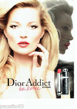PUBLICITE ADVERTISING 096  2012  Dior   rouge à lèvres Addict & Kate Moss