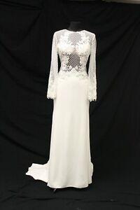 Justin Alexander Signature 99072 Bridal Wedding Gown Dress sz 14