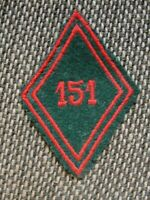 Losange de bras du 151e RT Régiment du Train insigne modèle 1945 écusson