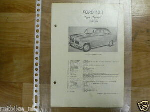 FO04-FORD  (D) TYPE TAUNUS 1952-1954 -TECHNICAL INFO TECHNICAL LIMOUSINE COACH