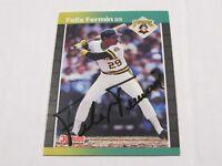Felix Fermin Donruss '89 Autographed Baseball Card