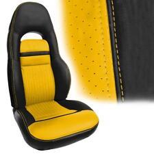 1997-2004 Corvette C5 Vinyl Sport Seat Covers - Black & Millennium Yellow