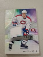 SAKU KOIVU 2020-21 UPPER DECK SP GAME USED LEGENDS JERSEY MONTREAL CANADIENS