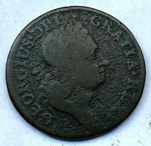 COLONIAL WOOD HIBERNIA HALF PENNY 1723 - COIN #5