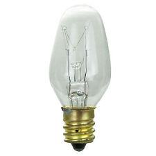 4 Pack Sunlite Incandescent 10 Watt C7 Night Light Bulb Candelabra Base Clear